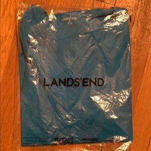 Lands End v-neck solid tunic T-shirt